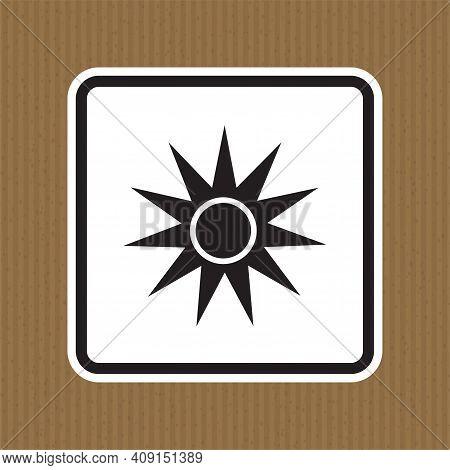Beware Optical Radiation Symbol Isolate On White Background,vector Illustration Eps.10