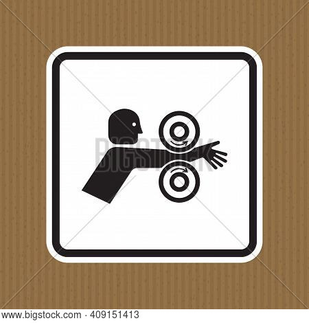Arm Entangle Rollers Right Symbol Sign Isolate On White Background,vector Illustration Eps.10