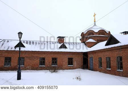 Courtyard Of John The Baptist Monastery In Sviyazhsk