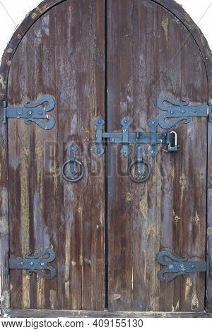 Details Of Old Wooden Door