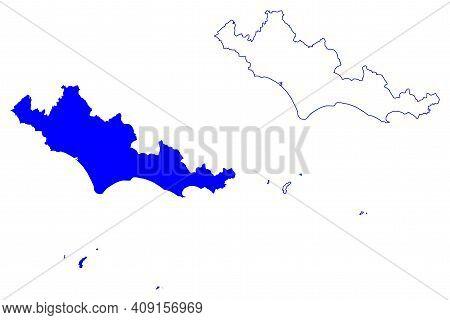 Latina Province (italy, Italian Republic, Lazio Region) Map Vector Illustration, Scribble Sketch Pro