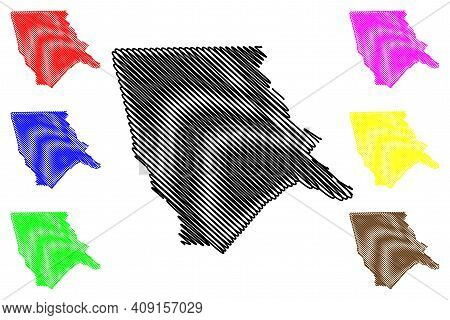 Moore County, North Carolina State (u.s. County, United States Of America, Usa, U.s., Us) Map Vector