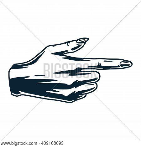 Female Pointing Finger Or Woman Wrist Forefinger