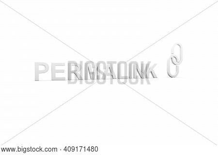 Permalink Concept White Background 3d Render Illustration