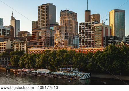melbourne City Business District (cbd) In Victoria, Australia