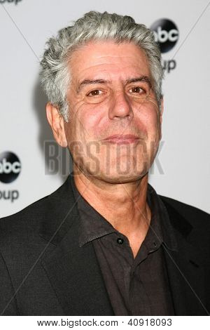 LOS ANGELES - JAN 10:  Anthony Bourdain attends the ABC TCA Winter 2013 Party at Langham Huntington Hotel on January 10, 2013 in Pasadena, CA