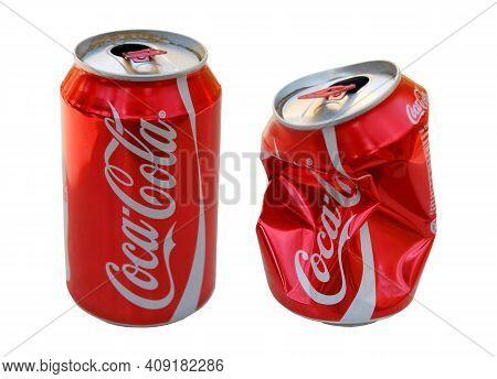 The World's Most Drinking Cola Brand, Coca Cola, Red Colored Aluminum Coca Cola Box