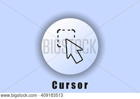 Cursor Pointer, Selection, Logo, Cursor Icon With Object Selection. Click Icon, Cursor, Computer Mou