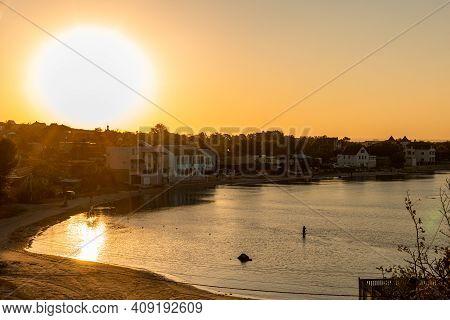 Russia, Crimea: September 2020: Bay Of Azov Sea, View Of Cape Kazantip