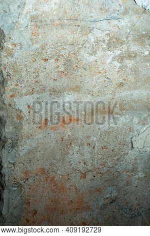 Surface Of An Old Concrete Wall. Defective Concrete Wall