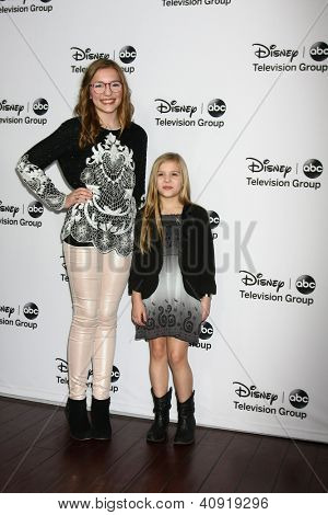 LOS ANGELES - JAN 10:  Lennon Stella, Maisy Stella attends the ABC TCA Winter 2013 Party at Langham Huntington Hotel on January 10, 2013 in Pasadena, CA