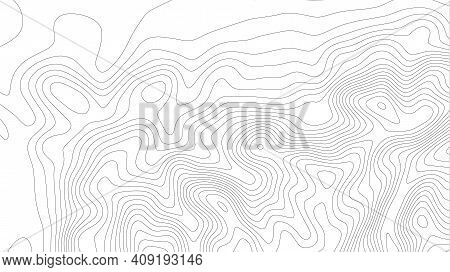 Height Abstract. Topo Map Elevation Lines. Contour Vector Abstract Vector Illustration. Geographic W