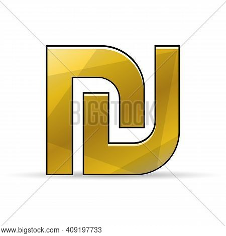 Israeli New Shekel Sign. Vector Currency Icon.