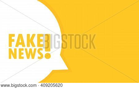 Fake News Speech Bubble Banner. Can Be Used For Business, Marketing And Advertising. Vector Eps 10.
