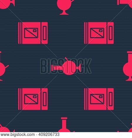 Set Cigarettes Pack Box And Glass Bong For Smoking Marijuana On Seamless Pattern. Vector