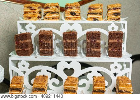 Candy Bar, Sweets To Choose From, Free Choice Of Sweet To Taste In Candy Bar To Celebrate Important