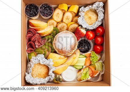 Gastronomic Box, Food, Home Delivery Of Ready Meals. Food For Holiday, Dinner, Corporate. Catering.