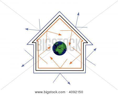 Energy Efficient House Concept Image