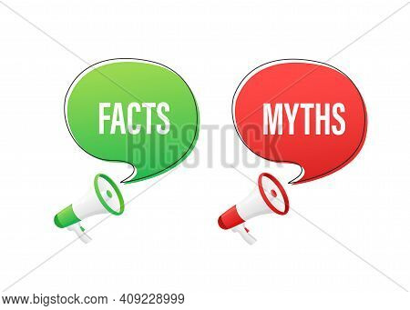 Icon For Concept Design. Icon With Fact Vs Myths On Transparent Background For Concept Design. Vecto