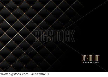 Upholstery Golden Luxury Diamond Pattern Background Design