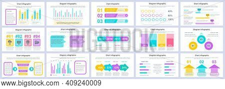 Bundle Business And Finance Infographics Presentation Slides Template. Different Charts, Diagrams, W