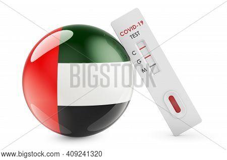 Diagnostic Test For Coronavirus In The United Arab Emirates. Antibody Test Covid-19 With The Uae Fla