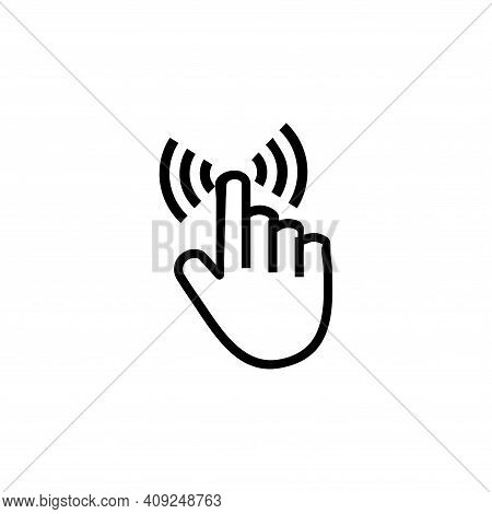 Hand Cursor Icon Vector. Hand Cursor Icon Isolated On White Background. Hand Cursor Icon Simple And