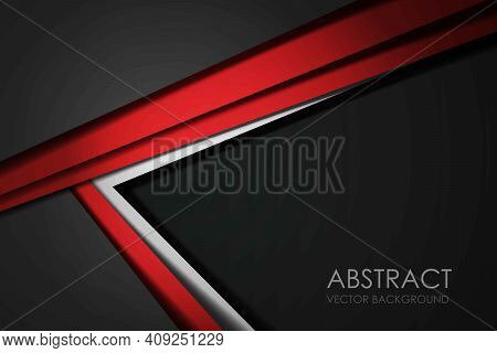 Red Background Overlap Dimension Grey Vector Illustration Message Board For Text And Message Design