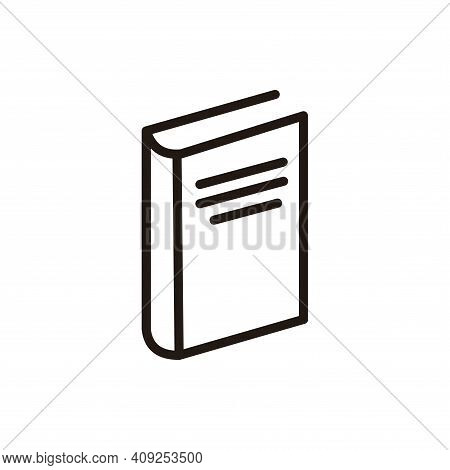 Book Icon Vector. Book Icon Isolate Don White Background. Book Icon Simple And Modern.