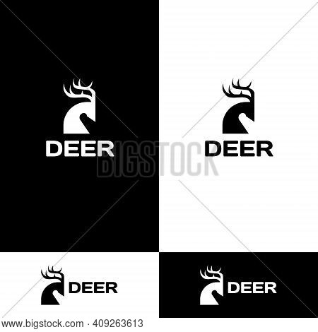 Deer Logo Icon Design Concept Vector, Deer Icon