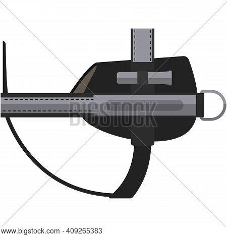 Dog Belt Chest Strap Vector Isolated On White Background