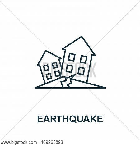 Earthquake Icon. Simple Element From Natural Disaster Collection. Creative Earthquake Icon For Web D