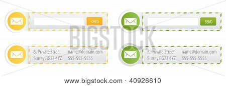 Newsletter Forms And Contact Banners