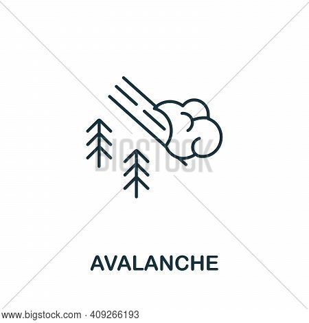 Avalanche Icon. Simple Element From Natural Disaster Collection. Creative Avalanche Icon For Web Des