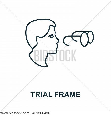 Trial Frame Icon. Simple Illustration From Ophthalmology Collection. Creative Trial Frame Icon For W