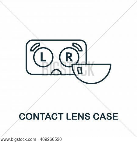 Contact Lens Case Icon. Simple Illustration From Ophthalmology Collection. Creative Contact Lens Cas