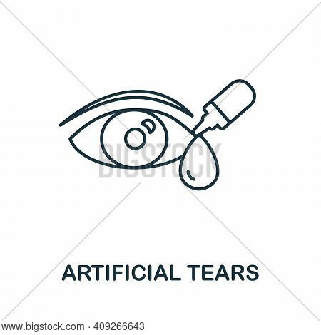 Artificial Tears Icon. Simple Illustration From Ophthalmology Collection. Creative Artificial Tears