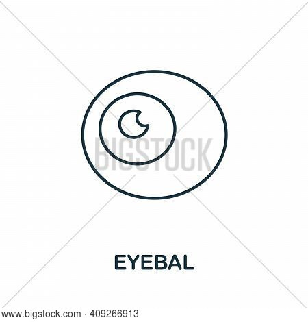 Eyeball Icon. Simple Illustration From Ophthalmology Collection. Creative Eyeball Icon For Web Desig