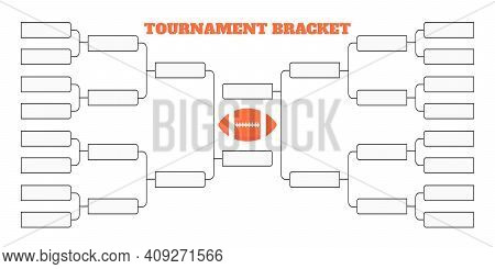 16american Football Team Tournament Bracket Championship Template Flat Style Design Vector Illustrat