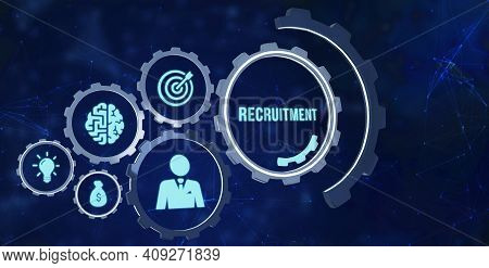 Internet, Business, Technology And Network Concept.recruitment Career Employee Interview Business Hr