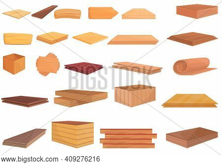 Plywood Icon. Cartoon Of Plywood Vector Icon For Web Design Isolated On White Background
