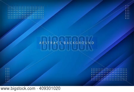 Abstract Modern Background Gradient Color. Blue Gradient With Geometric Decoration.