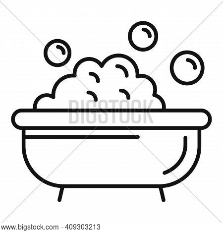 Pet Bath Icon. Outline Pet Bath Vector Icon For Web Design Isolated On White Background