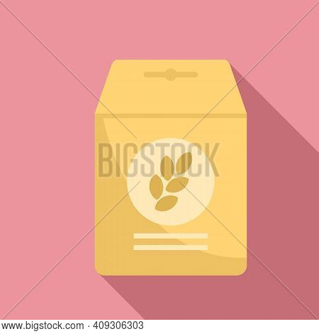 Cereal Flakes Muesli Icon. Flat Illustration Of Cereal Flakes Muesli Vector Icon For Web Design