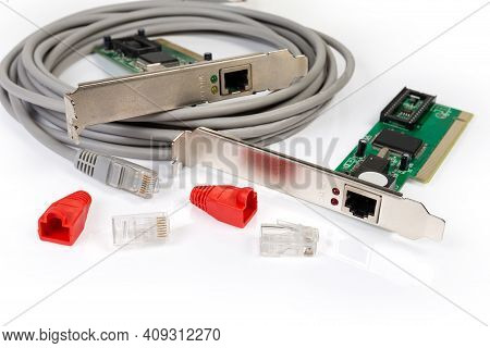 Networking Equipment For Twisted Pair  -  Different Network Controller Cards, Patch Cord, Connectors