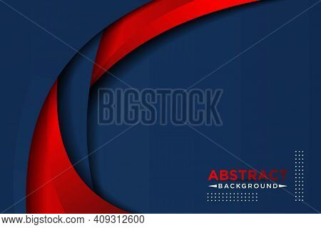 Red And Blue Contrast Corporate Wavy Background. Vector Design Eps10 Vector