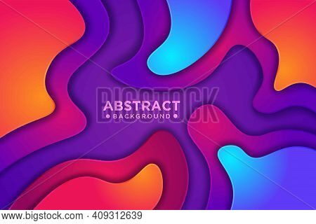 Abstract Wavy Colourful Background With 3d Style. Modern Liquid Background. Abstract Textured Backgr