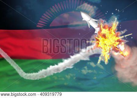Malawi Intercepted Nuclear Missile, Modern Antirocket Destroys Enemy Missile Concept, Military Indus