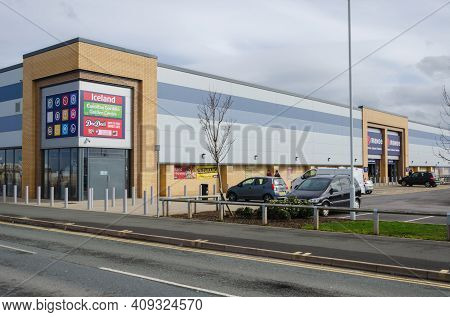 Rhyl, Denbighshire; Uk: Feb 21, 2021: The Range Operate A Large General And Housewares Store At The