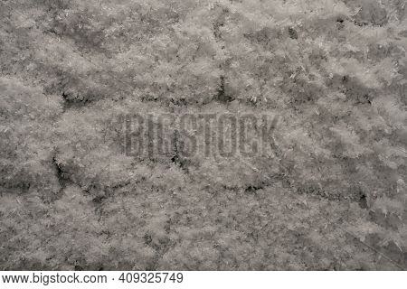 Brick Wall In Ice And Frost - Background